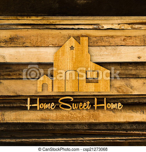 home silhouette sign - csp21273068