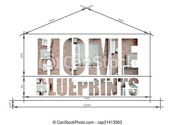 Home slogan in house blueprint home slogan in modern house blueprint home slogan in house blueprint csp31413563 malvernweather Gallery