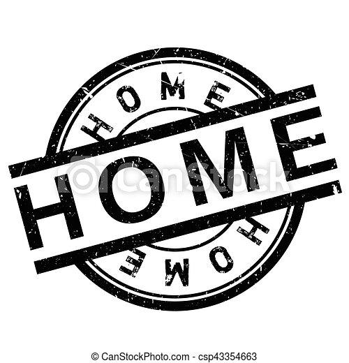 Home stamp rubber grunge - csp43354663