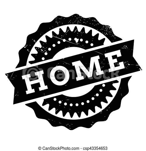 Home stamp rubber grunge - csp43354653