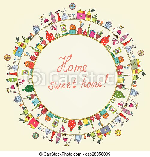 Home sweet - funny graphic card  - csp28858009