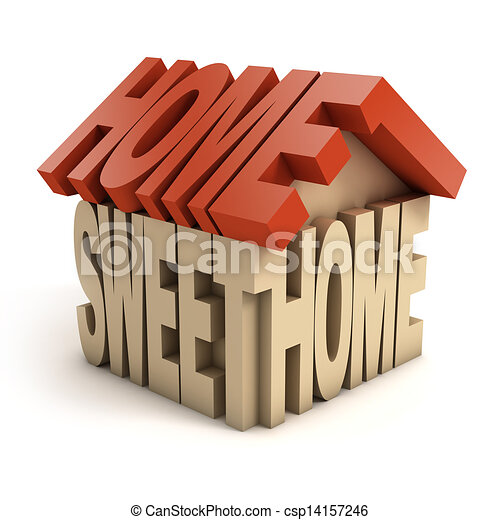 home sweet home 3d letters - csp14157246