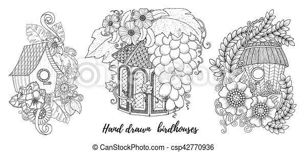Home Sweet Invitation Cards Floral Invites Boho Style Coloring Book Page
