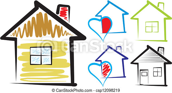 home sweet home silhouette silhouette of a happy family rh canstockphoto com home sweet home clipart free home sweet home clipart black and white