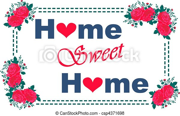home sweet home picture stock illustration search eps clip art rh canstockphoto com my sweet home clipart my sweet home clipart