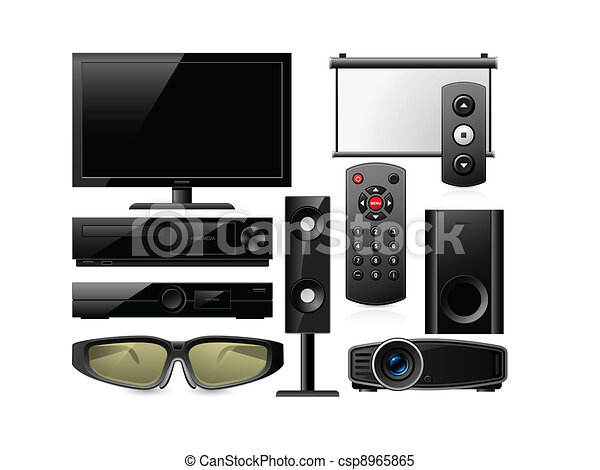 Home Theater Equipment Vector