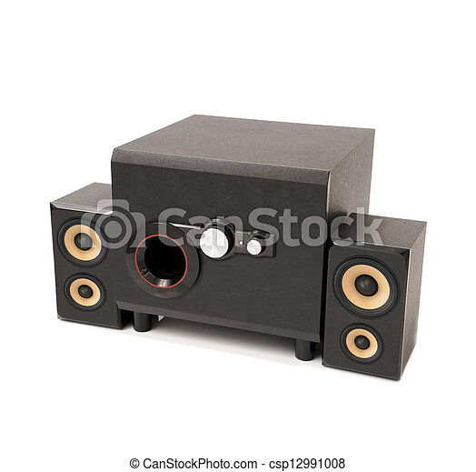 home theater isolated on white - csp12991008