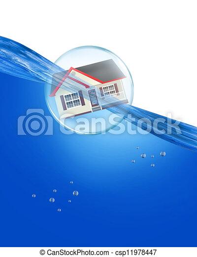 Home Under Water. - csp11978447