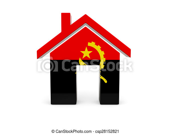 Home with flag of angola - csp28152821