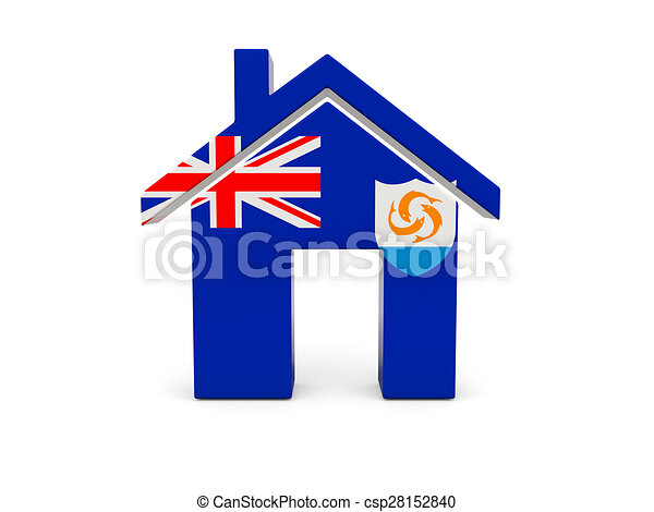 Home with flag of anguilla - csp28152840