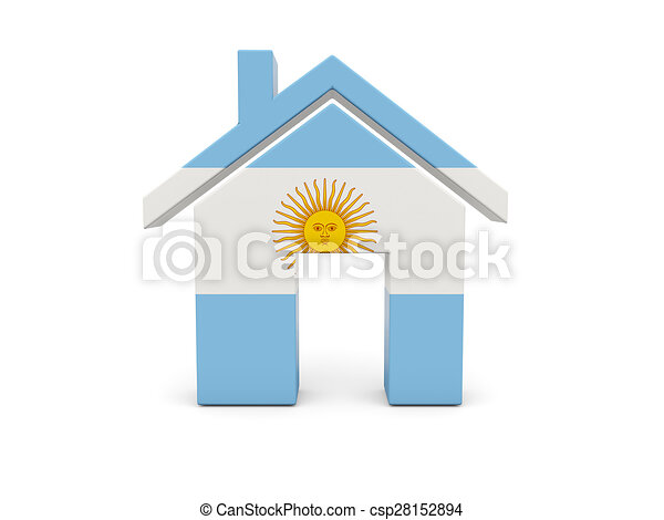 Home with flag of argentina - csp28152894