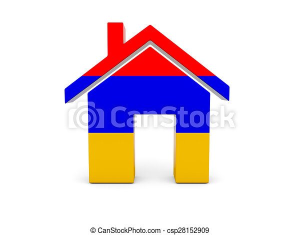 Home with flag of armenia - csp28152909