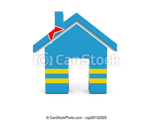 Home with flag of aruba - csp28152925