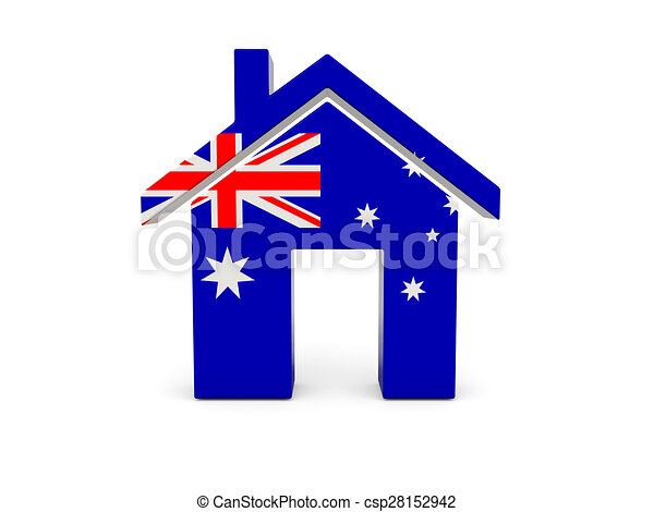 Home with flag of australia - csp28152942