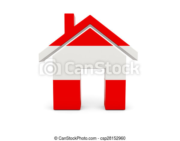 Home with flag of austria - csp28152960