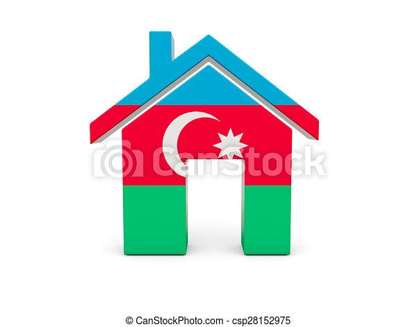 Home with flag of azerbaijan - csp28152975
