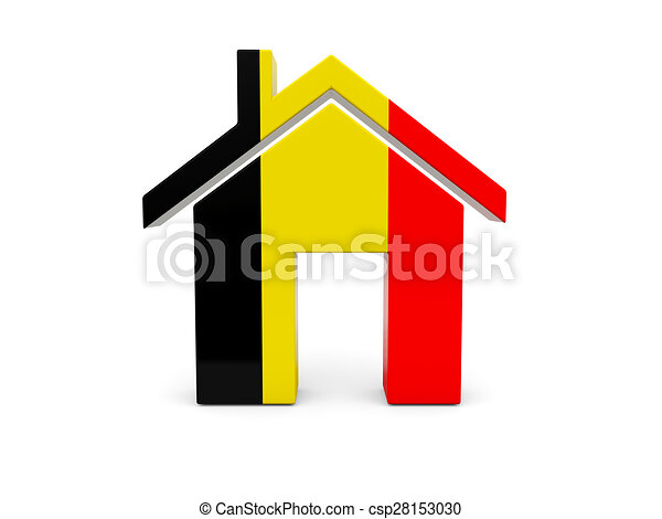 Home with flag of belgium - csp28153030