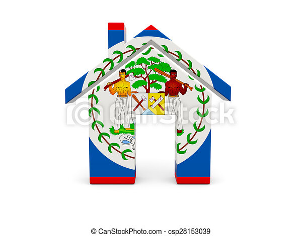Home with flag of belize - csp28153039