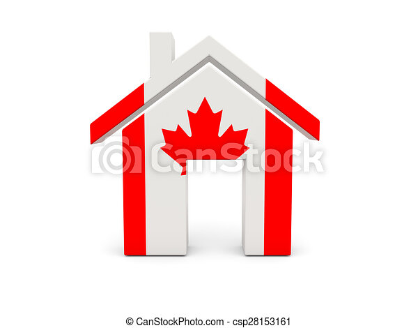 Home with flag of canada - csp28153161