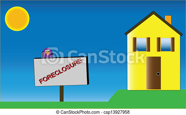 Home with Foreclosure Sign - csp13927958