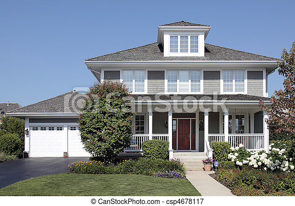 Home with front porch - csp4678117