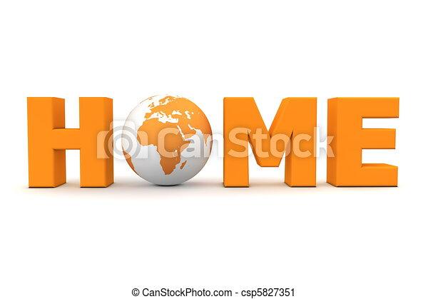 Home World Orange - csp5827351