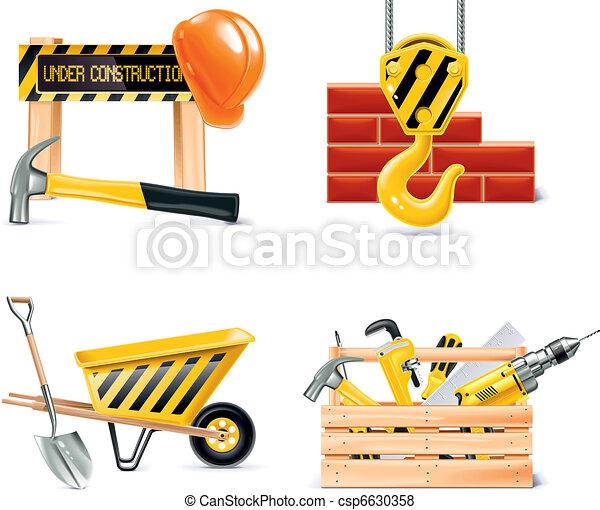Vector de construcción de casas e innovación. 4 - csp6630358