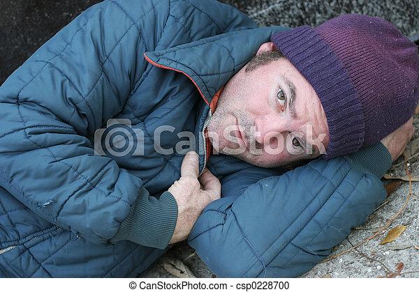 Homeless Man - Soulful Eyes - csp0228700