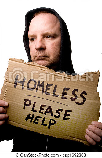 Homeless Man - csp1692303