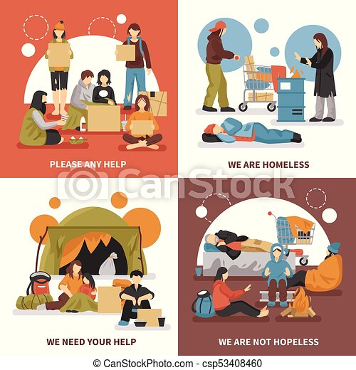 Old and homeless Royalty Free Vector Image - VectorStock
