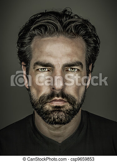 homem, barba - csp9659853