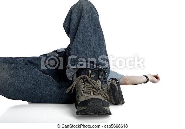 homem, caído - csp5668618