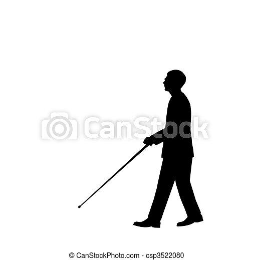 homem cego - csp3522080