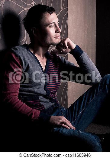 homem jovem - csp11605946