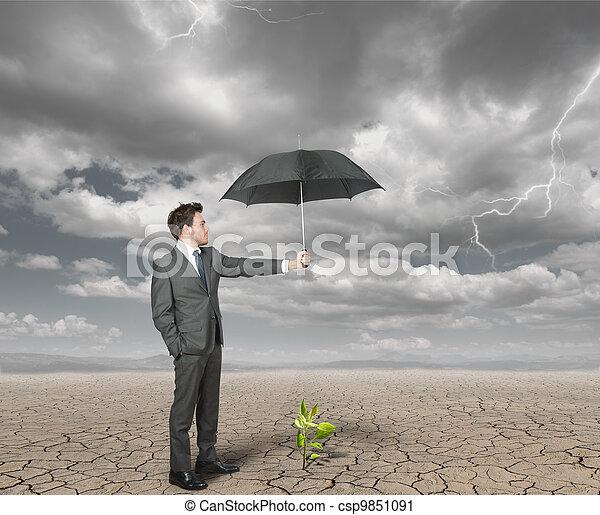 homem negócios, agricultura, ajudas - csp9851091