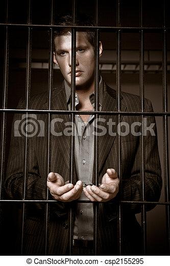 homem negócios, cadeia - csp2155295