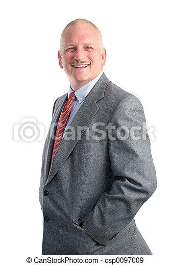 homem negócios, -, casual, feliz - csp0097009