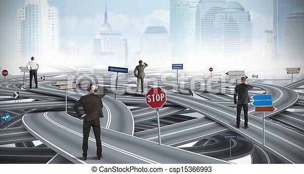 homem negócios, confundido, maneira - csp15366993