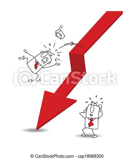 homem negócios, econômico, crise - csp18968300