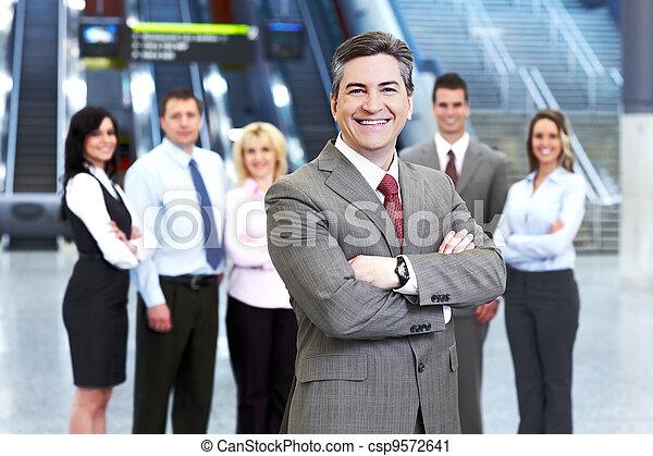 homem negócios, group., pessoas negócio - csp9572641