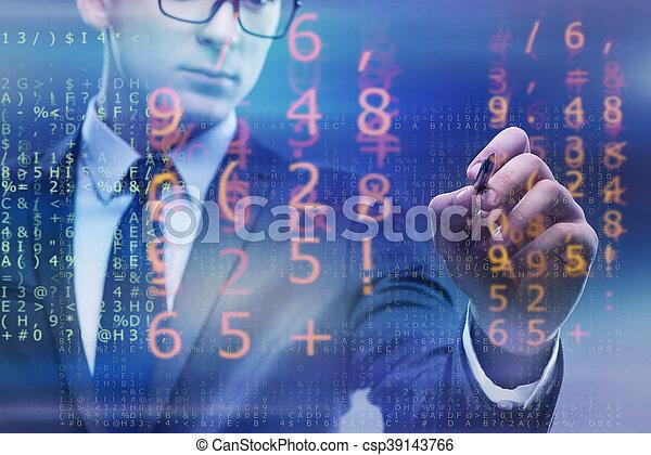 homem negócios, idade, conceito, digital - csp39143766