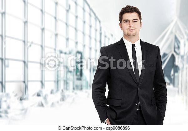 homem negócios, jovem - csp9086896