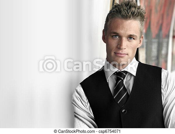 homem negócios, jovem - csp6754071