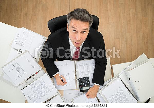 homem negócios, paperwork - csp24884321