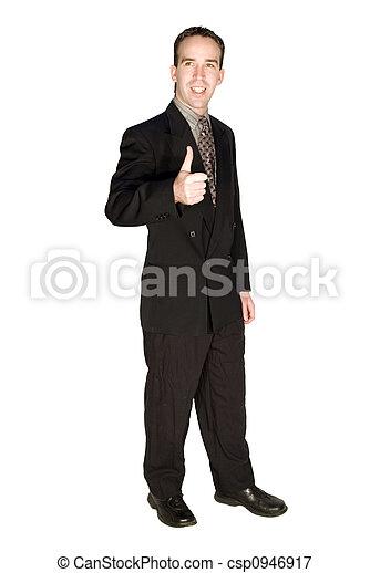 homem negócios, promoção - csp0946917