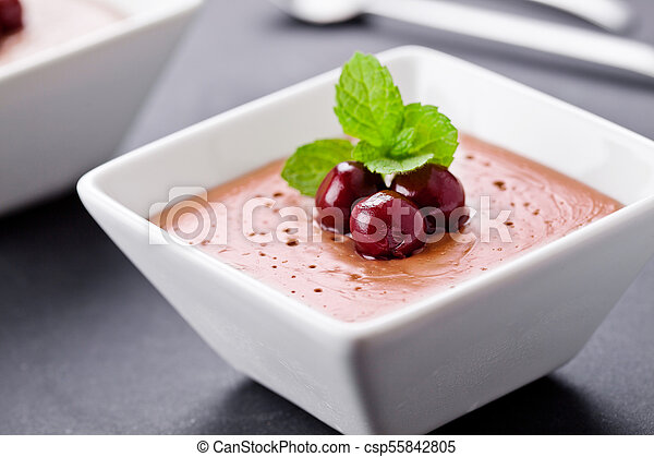 Homemade Chocolate Mousse - csp55842805