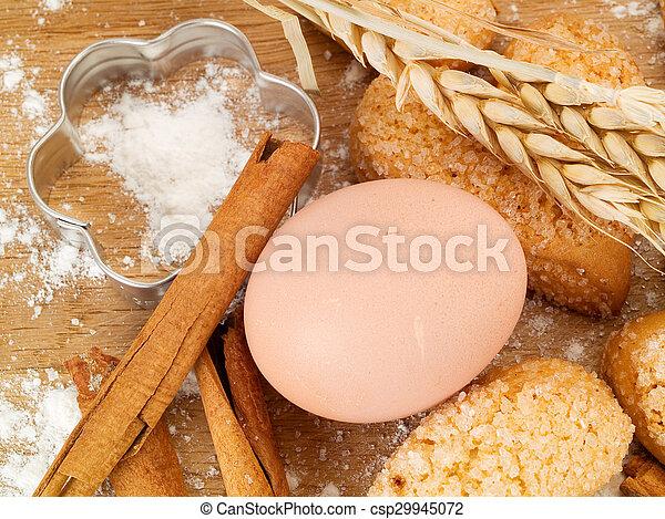 Homemade Cinnamon Cookies - csp29945072