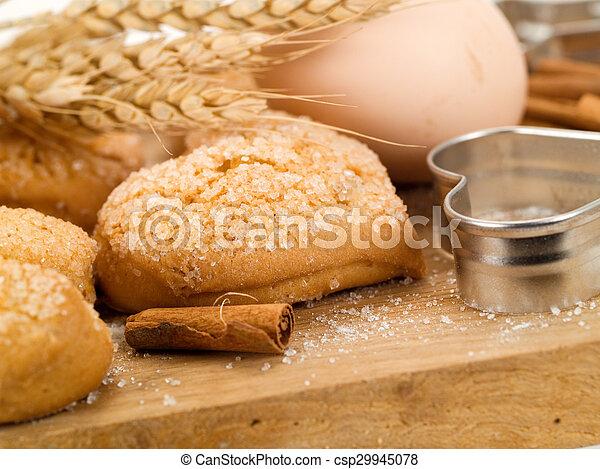 Homemade Cinnamon Cookies - csp29945078