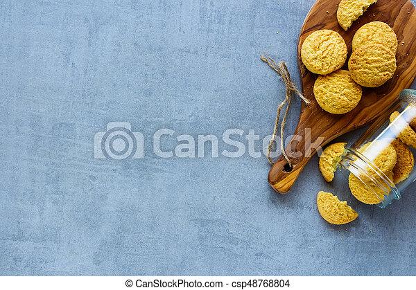 Homemade coconut cookies - csp48768804