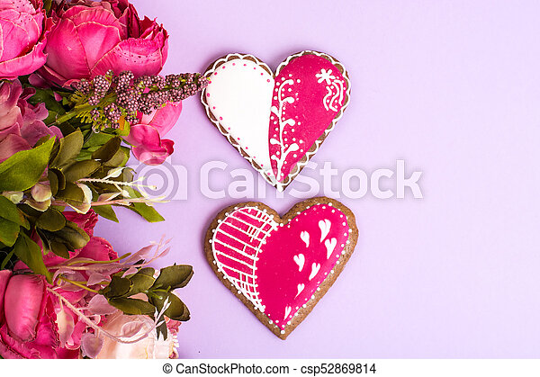 Homemade cookies for Valentine's day - csp52869814